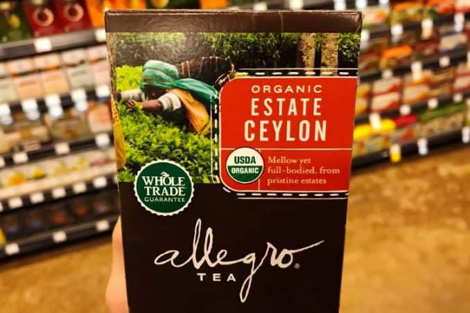 box of Ceylon tea