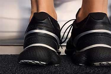 male feet in basketball shoes
