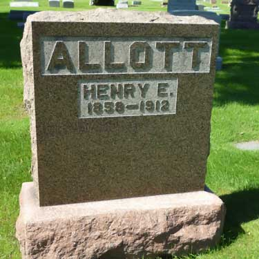 Henry E. Allott tombstone