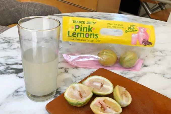 lemonade made using real pink lemons