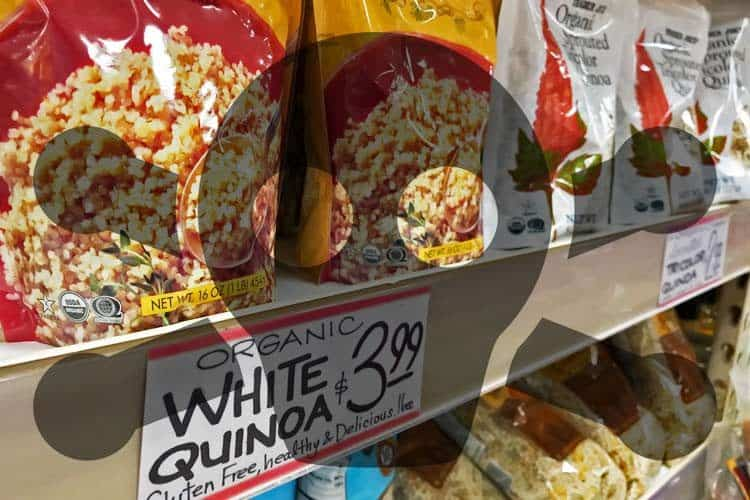 Trader Joe's quinoa with toxic symbol