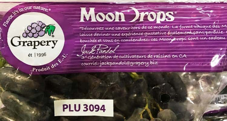 PLU 3094, store packaging for moon grapes