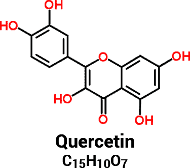 quercetin molecule and chemical formula