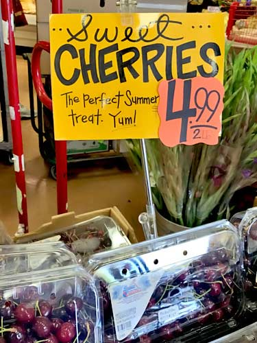Trader Joe's sweet cherries fresh
