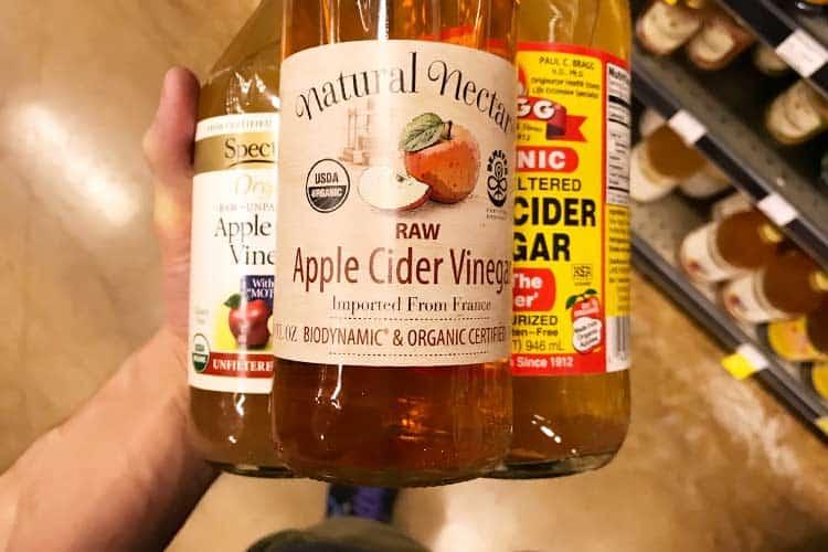 bottles of 3 apple cider vinegar brands