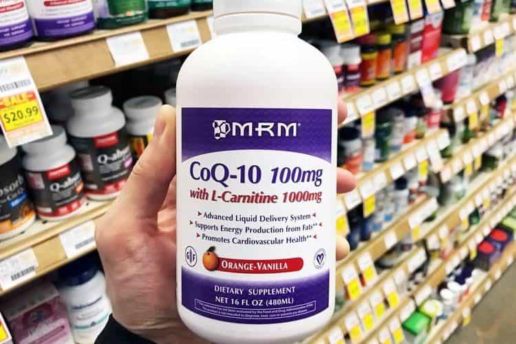 bottle of liquid CoQ10