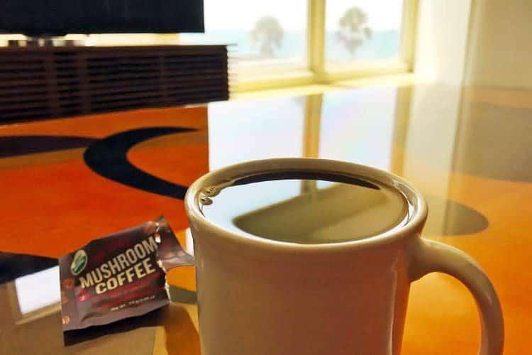 organic mushroom coffee in mug