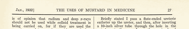 Uses of Mustard In Medicine from 1932
