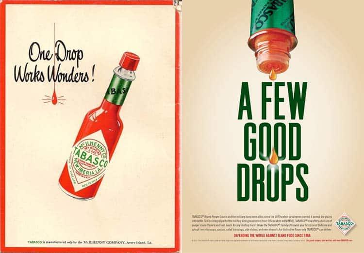 vintage magazine ads for Tabasco sauce