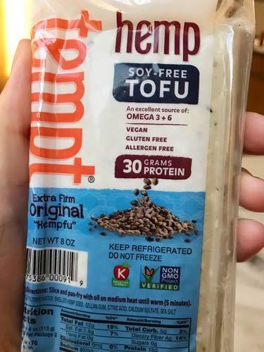 Tempt soy-free hemp tofu