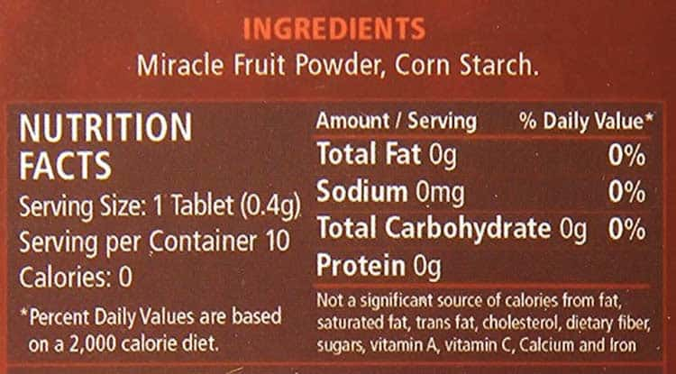 Mberry nutrition facts and ingredients label