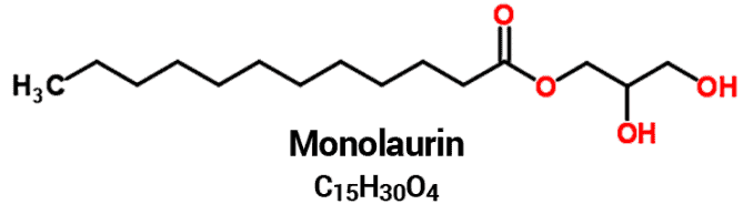 monolaurin structure and chemical formula