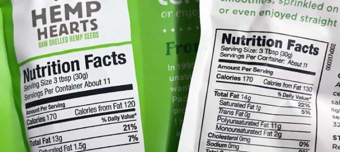 Manitoba Harvest vs. Nutiva hemp seed nutrition facts
