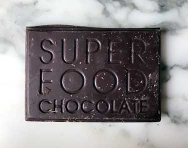 chocolate bar that says superfood on it