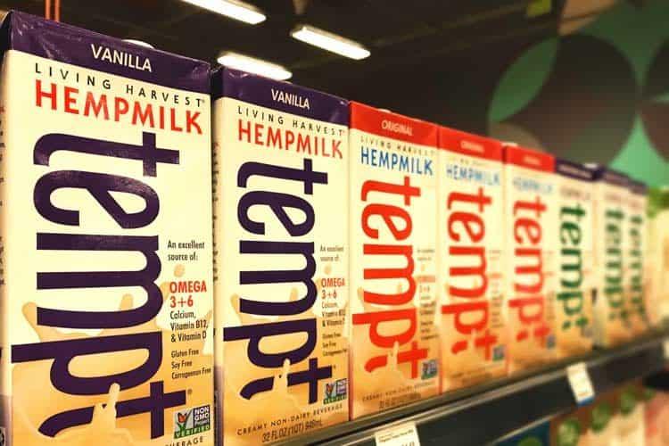 Tempt hemp milk at Whole Foods