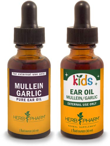 mullein garlic ear oil for adults and kids by Herb Pharm