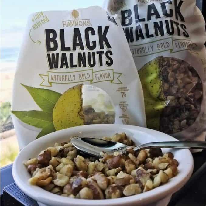 raw black walnuts