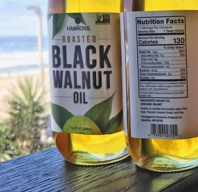 black walnut oil nutrition facts and calories
