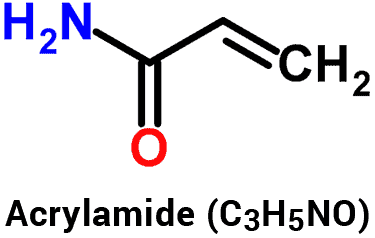 acrylamide molecule structure and chemical formula