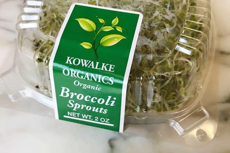 fresh organic broccoli sprouts