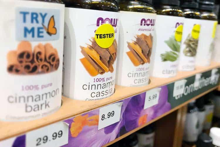 bottles of cinnamon bark and cassia oil