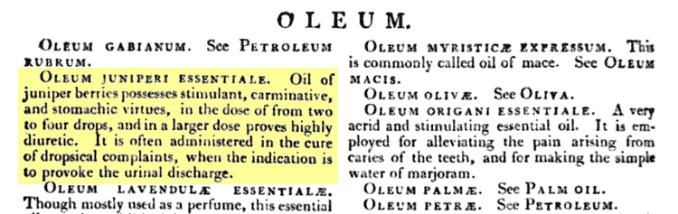 medicinal uses for juniper essential oil