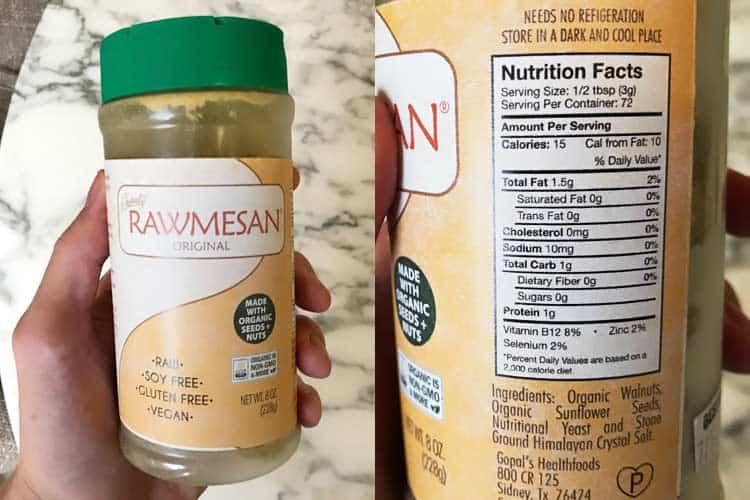 Gopal's Rawmesan