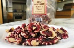 red walnuts on plate