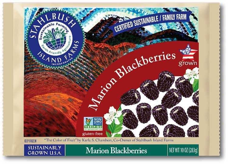 Stahlbush Island Farms frozen marion blackberries