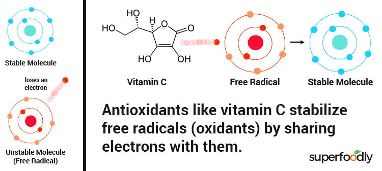 diagram showing how antioxidants work