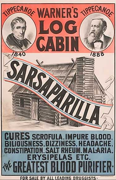 sarsaparilla medication ad from the 1880's