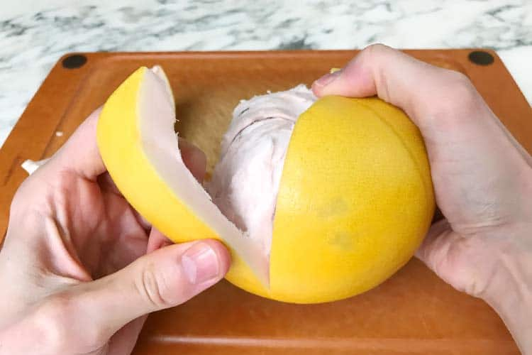 peeling a pomelo