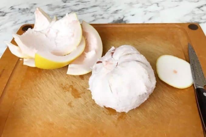 what a pomelo looks like without skin