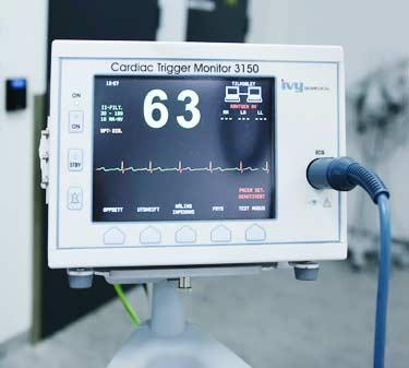electrocardiogram (ECG or EKG) heart monitor