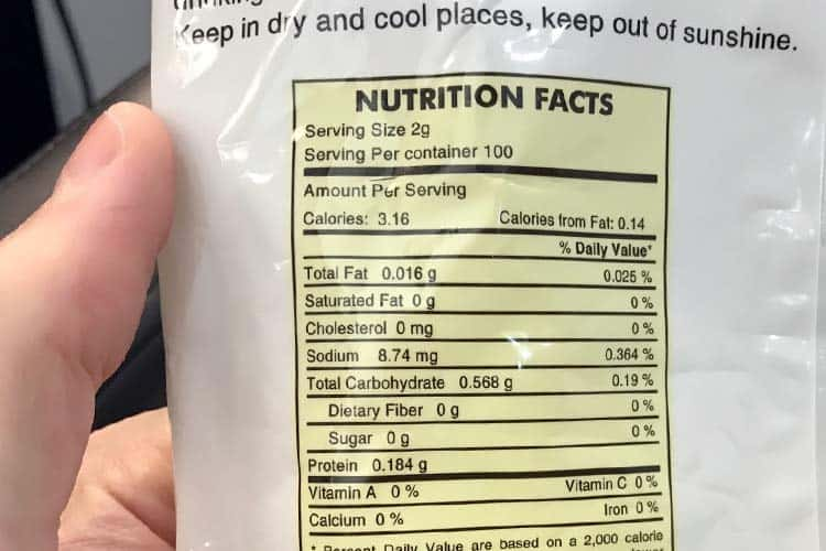 artichoke tea nutrition facts