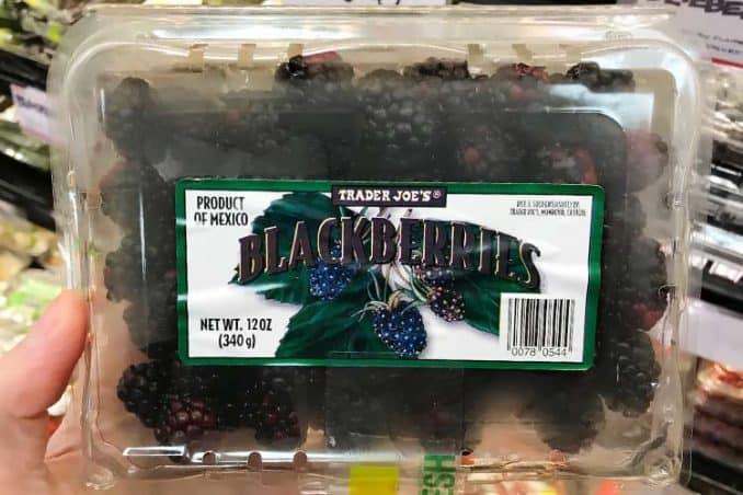 normal blackberries at Trader Joe's