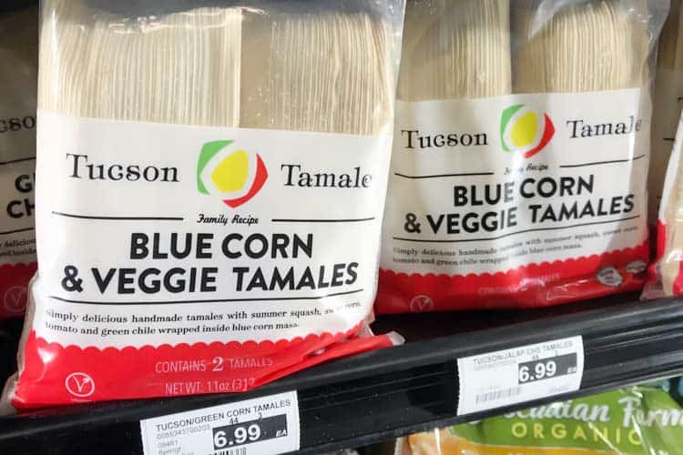 frozen blue corn and veggie tamales