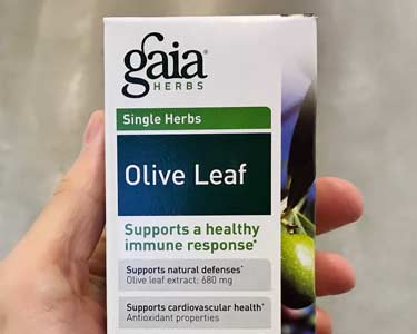 Gaia herbs olive leaf supplement immune booster labeling