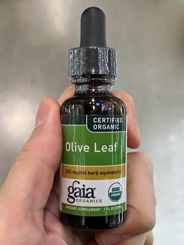 Gaia Herbs organic liquid olive leaf in dropper bottle