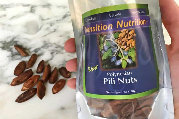 Transition Nutrition Divine Organics raw pili seeds bag