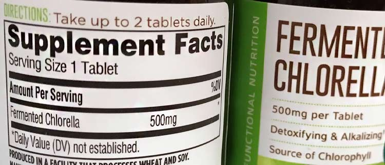 fermented chlorella nutrition facts