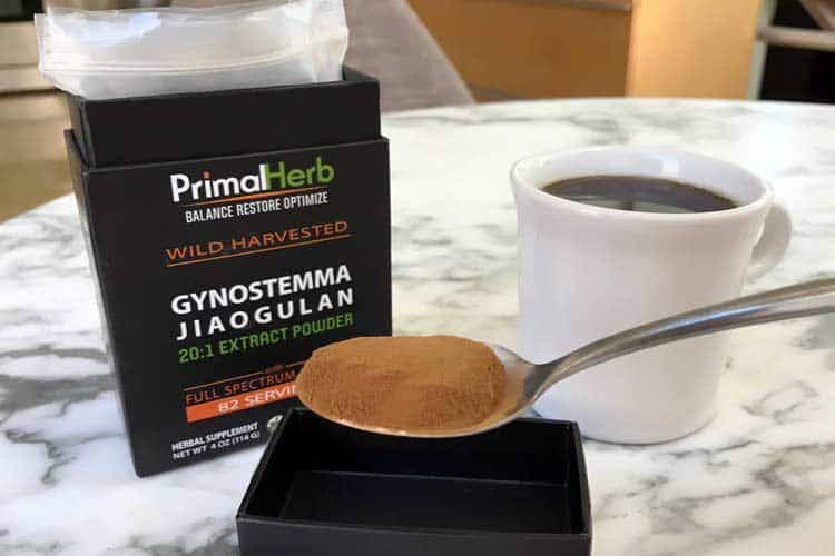 gynostemma tea made with jiaogulan powder