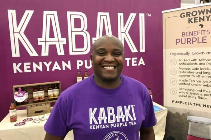 Martin Kabaki, founder and CEO of Kabaki purple tea