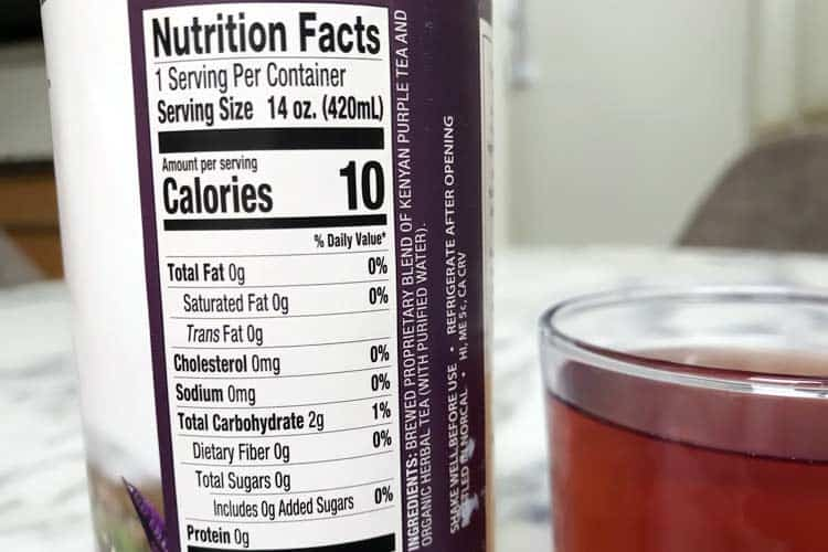 purple tea nutrition facts, vitamins and mineral content