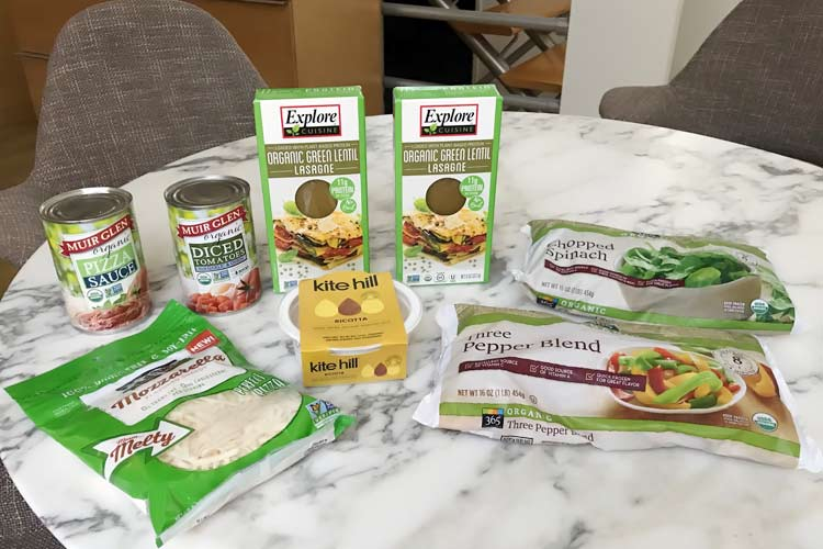 ingredients needed for GF vegan lasagna recipe