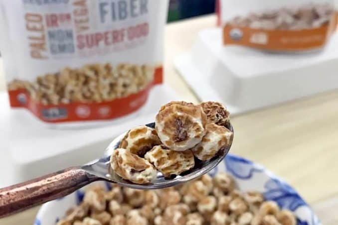 raw organic tiger nuts on spoon