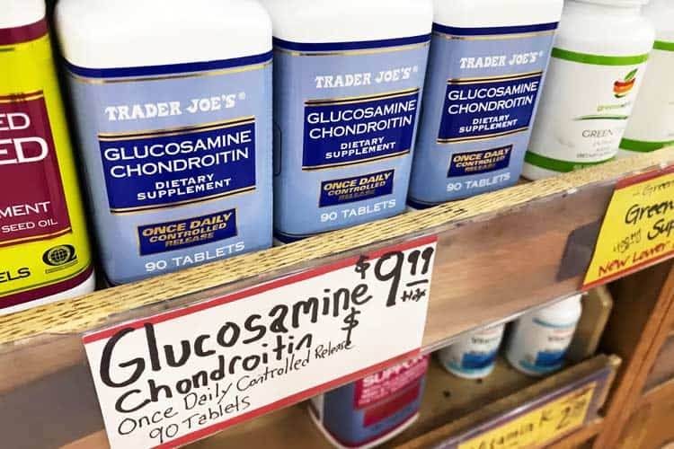 Trader Joe's glucosamine chondroitin supplements