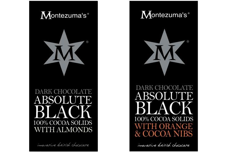 Montezuma's 100% cacao chocolate bars