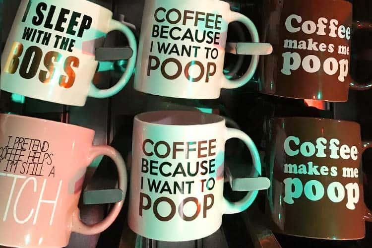 coffee makes me poop novelty mugs