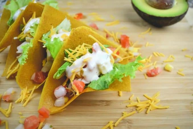 low carb tacos made with Nuco coconut wraps